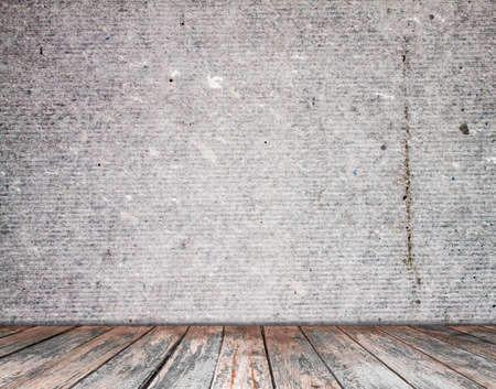 empty room with  wall and wooden floor 免版税图像