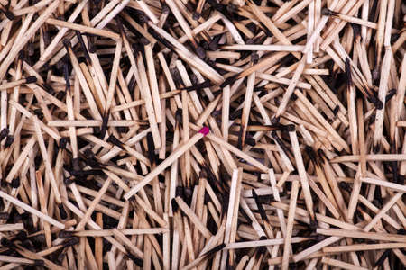 burnt: background of burnt matches