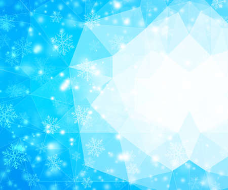 rime frost: Winter Background with Snowflakes Stock Photo