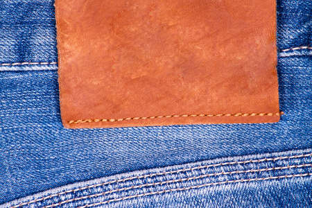 jeans pocket: Blue jeans pocket closeup