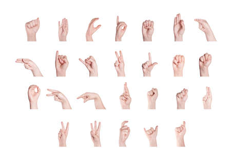 Finger Orthographe l'alphabet en American Sign Language (ASL)