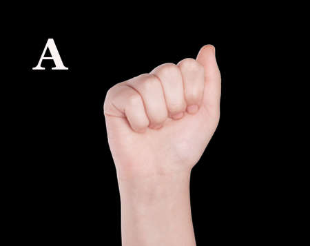 Finger Spelling the Alphabet in American Sign Language (ASL). The Letter O Archivio Fotografico