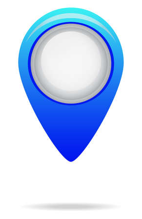cobalt: Map Marker icon from Primitive Set. This isolated flat symbol is drawn with cobalt color on a white background.