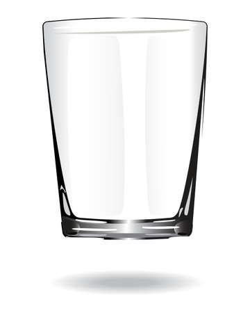 shot glass: Shot glass. Isolated On White Background. Vector Illustration.