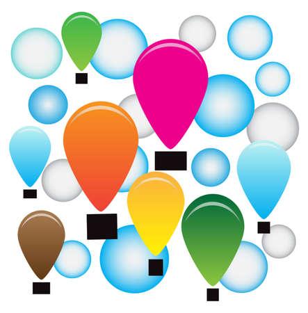 ballons: Vector air ballons background Illustration