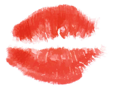 pucker: Print of red lips.