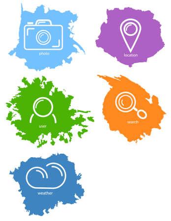 blot: Set of vector icon. Vector image. Colorful blot. Stock Photo