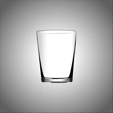 Shot glass. Isolated On White Background. Vector Illustration.