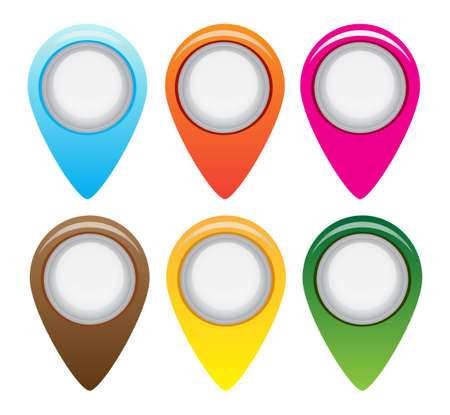 tip style design: Set of flat icons gadget with wifi connection