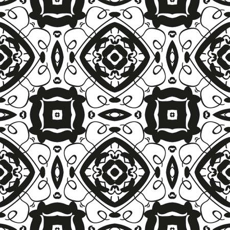 grungy: Seamless background pattern, black and white, grungy.