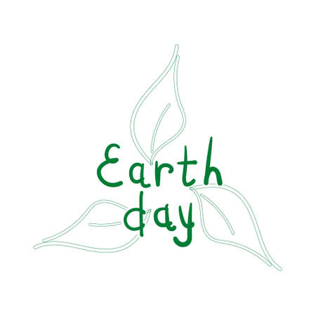 earth day: Handwritten inscriptions for Earth Day.