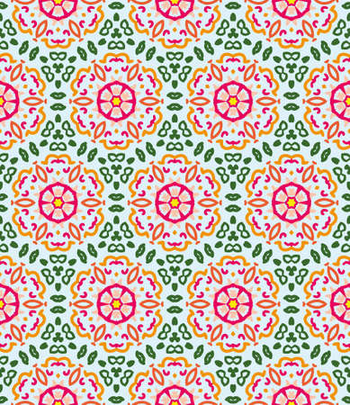 menswear: Color seamless vector geometric pattern Illustration