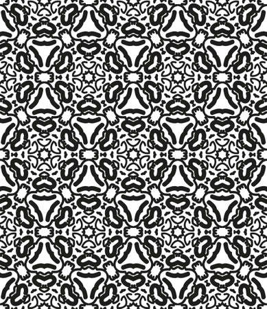 twill: Black and white seamless vector geometric pattern