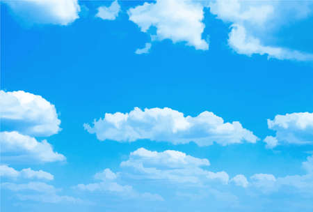 Background with blue sky and clouds. Vector. Stock Illustratie