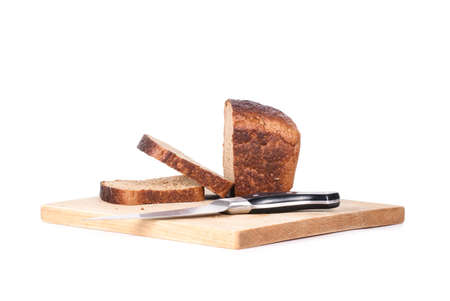whole grain: whole grain bread isolated on white background Stock Photo