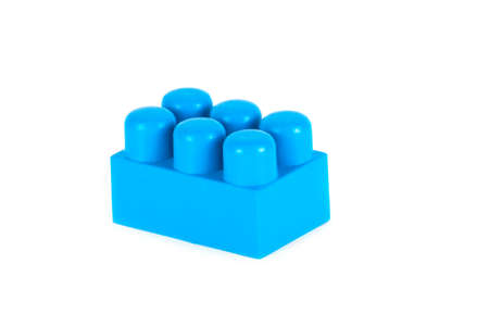 constructor: plastic constructor on white background. Toy for Child