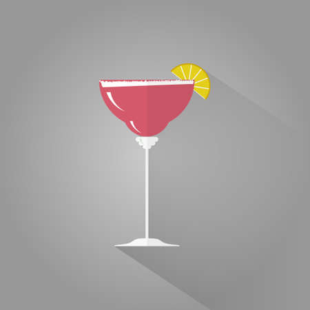 margarita: Margarita flat design icon. National Margarita day icon. Illustration