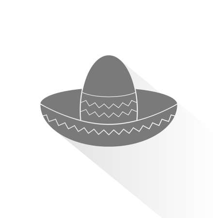 brimmed: Mexican hat flat icon for apps and websites