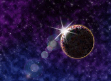 cosmic: Starry outer space background texture. Cosmic background
