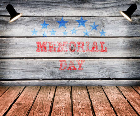 stars and stripes: Happy Memorial Day with texture, Stars Stripes and flag
