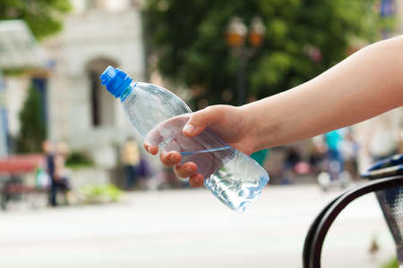 thirst quenching: The drinking water in the bottle. quenching thirst