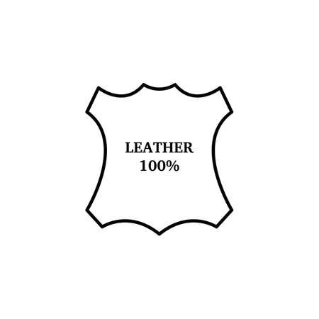 Flache Symbol Leder Icon