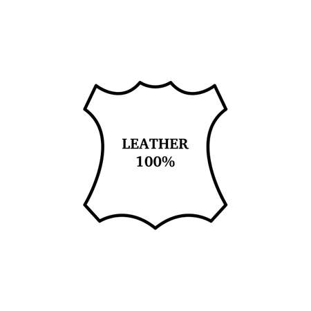 Flat icon leather Icon Illustration