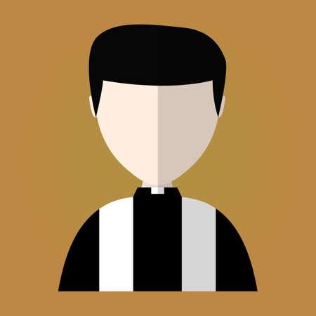 priest's ritual robes: church prayer priest pastor pictogram. vector icon Illustration