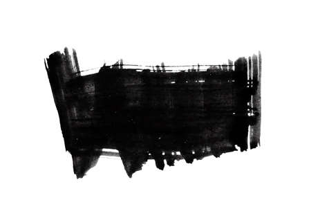 the ink blot: Black ink blot.