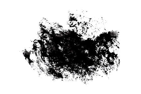 blot: Black ink blot.