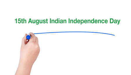 hindustan: Marker in hand and an inscription independence day