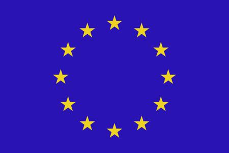european: European union flag. Vector illustration