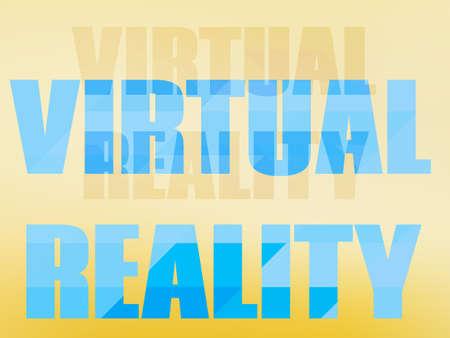 of the inscription: Design inscription virtual reality. Vector illustration Illustration
