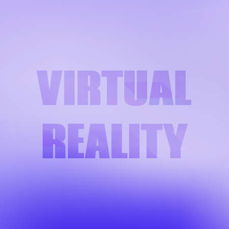 reality: Design inscription virtual reality. Vector illustration Illustration