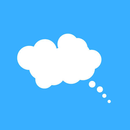 place for your text: Cloud speech bubble with place for your text