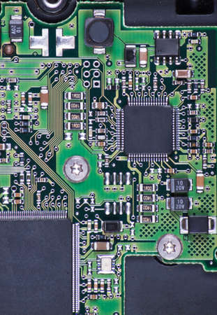 proto: Piece of the silicon chip close up.