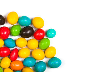 bonbons: Colorful candy in glaze isolated on white background Stock Photo