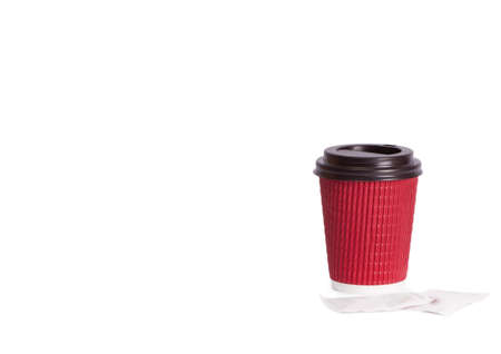 disposable cup: Disposable cup isolated on white background. Disposable tableware