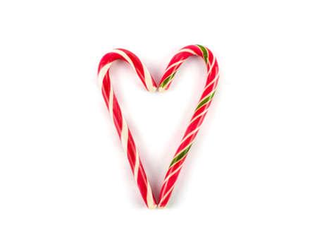 Christmas candy isolated on white background. Christmas sweet Stock Photo