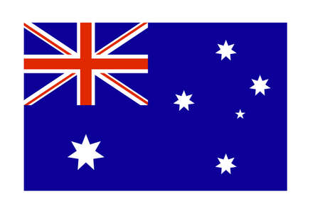 Vector flag australia close up. Element for design Illustration