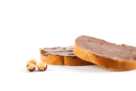 hazelnuts: Chocolate nut butter and roasted hazelnuts. Food