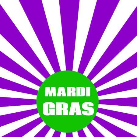 Vector greeting design card with inscription Mardi gras