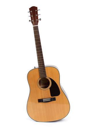 Guitar isolated on white background. Musical conception