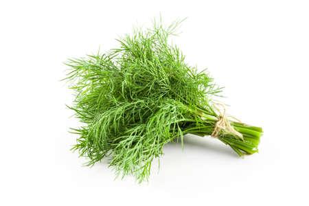 Verse groene dille geïsoleerd. Voedsel ingrediënten. Gezond eten Stockfoto