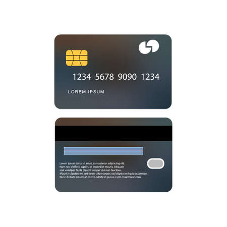 Vector template credit card on white background