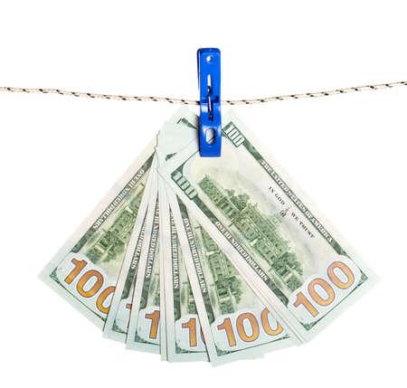 Dollar billet sur le concept de l & # 39 ; argent de la corde. dollars argent argent comptant Banque d'images - 85342901