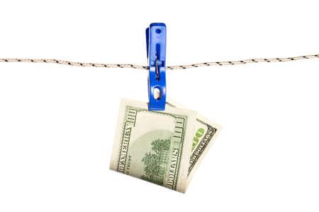 Dollar billet sur le concept de l & # 39 ; argent de la corde. dollars argent argent comptant Banque d'images - 85409116