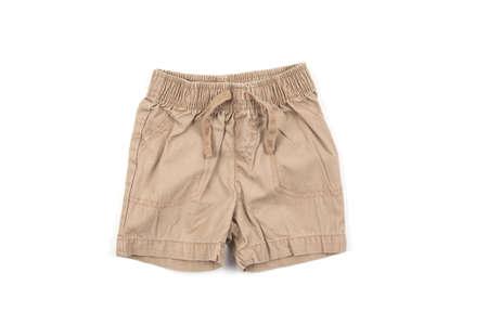 Stylish baby shorts isolated on white background 版權商用圖片