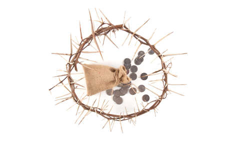 Crown of thorns isolated on white background Stock Photo
