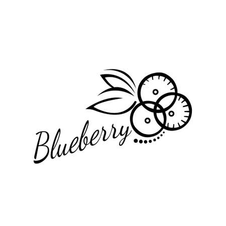 Vector logo blueberry isolated on white background